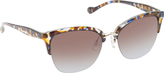 Jessica Simpson Women's J5355 Cateye Animal Print Sunglasses