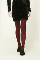 Forever 21 FOREVER 21+ Cable Knit Tights