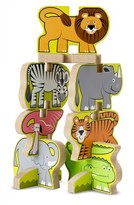 Melissa & Doug Toddler Stacking Wooden Zoo Puzzle