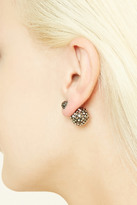 Forever 21 FOREVER 21+ Faux Gem Globe Dual Studs