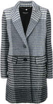 Twin-Set striped single breasted coat