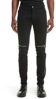 Givenchy Men's Zip Detail Twill Biker Pants