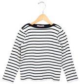 Petit Bateau Girls' Long Sleeve Striped Top