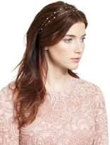 Jennifer Behr Lucia Two-Row Head Wrap, Crystal/Gold