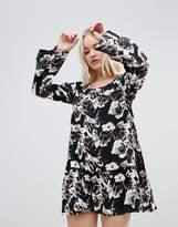 Rock & Religion Floral Splodge Frill Dress