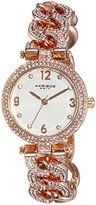 "Akribos XXIV Women's AK756RG ""Brillianaire"" Crystal-Accented Rose Gold-Tone Watch"