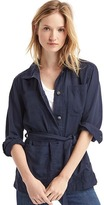 Gap Tencel® tie-belt utility jacket