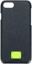 Dolce & Gabbana neon logo plaque iPhone 7 case - men - Calf Leather/Plastic - One Size