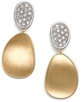 Marco Bicego Lunaria Diamond Drop Earrings
