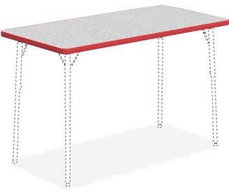 Lorell Classroom Rectangular Activity Tabletop, High Pressure Laminate (HPL), Multiple Colors