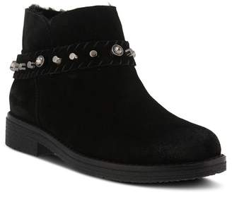 Spring Step Rodea Leather Studded Bootie
