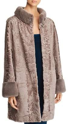 Maximilian Furs Persian Lamb Shearling Coat with Mink Fur Trim - 100% Exclusive