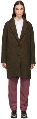 Etoile Isabel Marant Brown Boucle Dante Coat