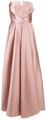 Alberta Ferretti Sleeveless Silk-Blend Maxi Dress
