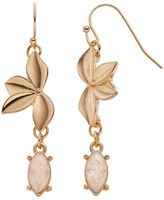 Lauren Conrad Crackle Marquise Leaf Nickel Free Drop Earrings