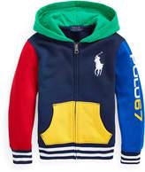 Ralph Lauren Childrenswear Boy's Yummy Colorblock Fleece Zip-Up Hoodie, Size 2-4