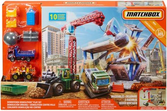Mattel Matchbox Downtown Demolition Playset