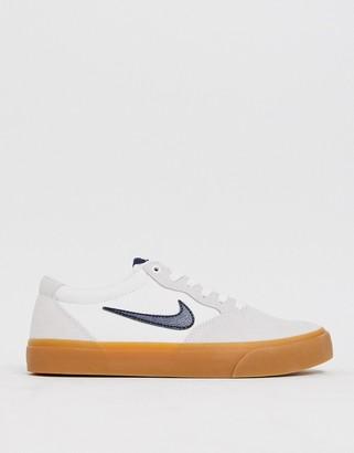 Nike Sb SB Chron in white with gum sole
