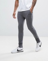Asos Lightweight Extreme Super Skinny Joggers In Charcoal Marl