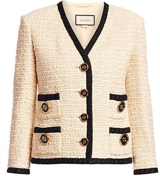 Gucci Boucle Tweed Boxy Jacket