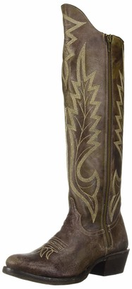 Stetson Women's Cam Western Boot Green 6.5 Medium US