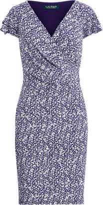 Ralph Lauren Floral Flutter-Sleeve Dress