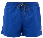 Paul Smith Zebra-embroidered Swim Shorts - Mens - Blue