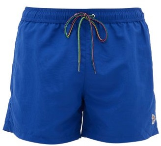 Paul Smith Zebra-embroidered Swim Shorts - Mens - Blue