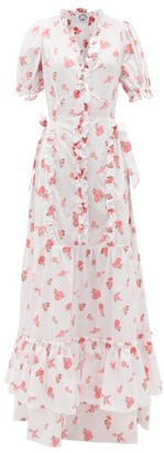 Evi Grintela Mansour Ruffled Cotton-voile Dress - White Print