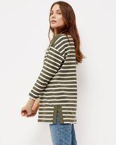 Jaeger Cotton Boat Neck Stripe Tunic