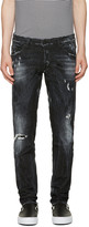 DSQUARED2 Black Distressed Clement Jeans