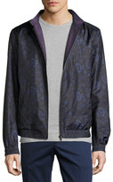 Etro Reversible Floral-Print Bomber Jacket, Navy