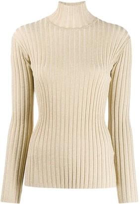 Victoria Victoria Beckham Ribbed Turtleneck Jumper