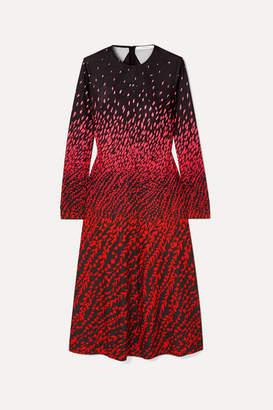 Givenchy Printed Crepe Midi Dress - Black