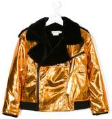 Andorine metallic biker jacket