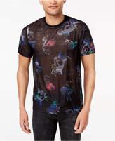 GUESS Men's Wynn Floral Skull-Print T-Shirt