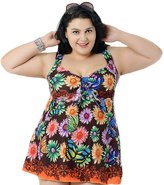 Emmas Style Women's Plus-Size One Piece Swim Dresses Swimsuit Swimwear