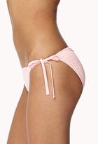 Forever 21 Tonal Stripe String Bikini Bottom