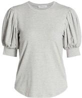 Frame Balloon Sleeve Striped T-Shirt