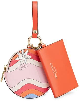 Emilio Pucci Printed Small Charm and Coin Purse