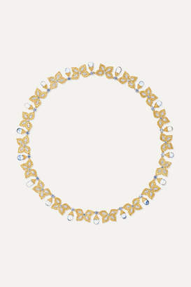 Buccellati 18-karat Yellow And White Gold, Sapphire And Diamond Necklace