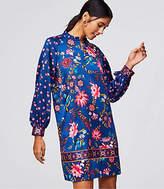 LOFT Wildflower Satin Shift Dress