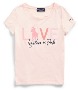 Polo Ralph Lauren Big Girls Pink Pony Jersey Tee