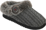 Dearfoams Women's Cable Knit Clog Slipper with Memory Foam
