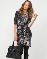 Le Château Silk Jersey Abstract Animal Print Shift Dress
