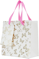 Accessorize Foil Butterfly Small Gift Bag