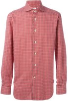 Kiton checked print shirt