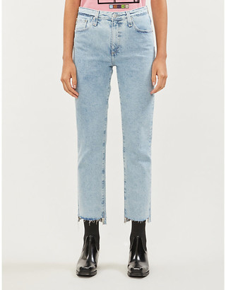 AG Jeans Isabelle high-rise slim straight-leg jeans
