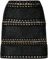 Balmain chain-embellished mini skirt