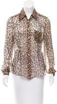Dolce & Gabbana Sheer Leopard Print Top